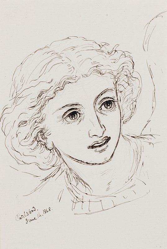 PATON Sir Joseph Noel FRSA (1821-1901) - Head of an angel.