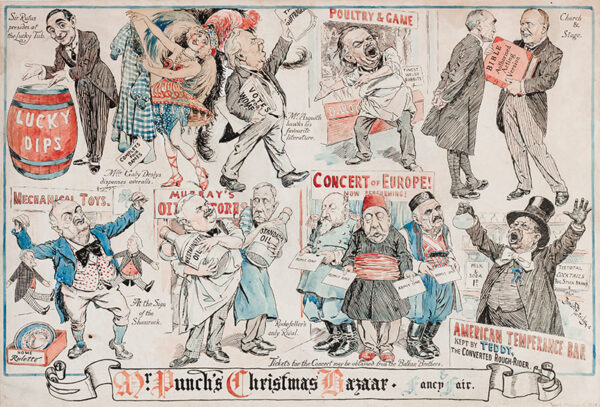 PARTRIDGE Sir Bernard (1861-1945) - 'Mr Punch's Christmas Bazaar'.