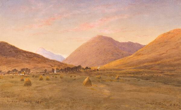 PATON Waller Hugh R.S.A. R.W.S. (1828-1895) - 'Evening at Tyndrum'.