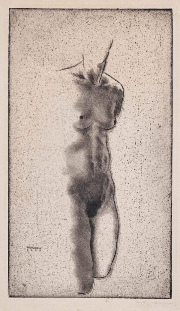 PAUNZEN Arthur (1890-1940) - Torso.