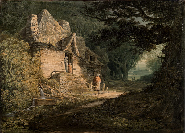 PAYNE William (1760-1830) - A Cottage by a Woodland Path.