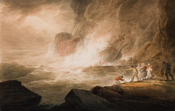 PAYNE William (1760-1830) - A West Country Shipwreck.