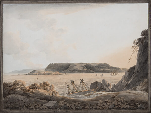 PAYNE William (1760-1830) - 'Mount Edgecumbe, Island of Penlee Point, from the East'.