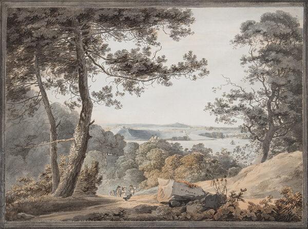PAYNE William (1760-1830) - 'Town of Dock, Mount Wise, Mount Pleasant, Stoke, Stoke Church and Village, Stonehouse / Bridge & Creek, taken from the Amphitheatre'.