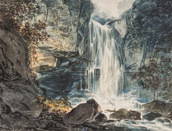 PAYNE William (1760-1830) - Wales; Cil Hepste falls near Neath.