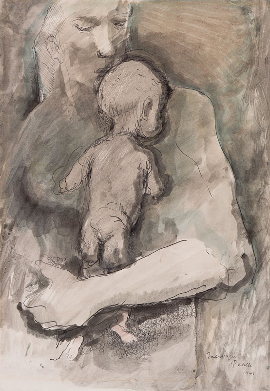 PEAKE Mervyn (1911-1968) - Mother and child.