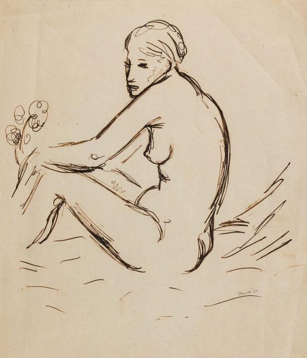 PEAKE Mervyn (1911-1968) - Nude.