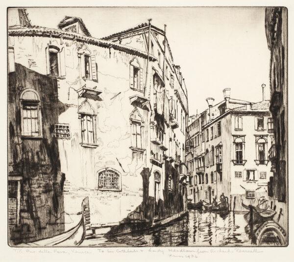 PEARSALL Richard (1891-1971) - 'Rio della Fava, Venice'.