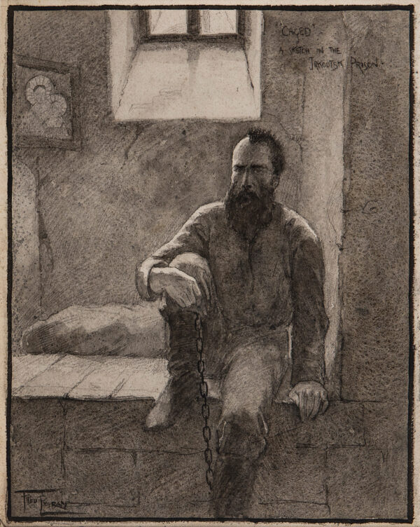PEGRAM Fred (1870-1937) - 'Caged' – A sketch in the Jakoutsk (sic.
