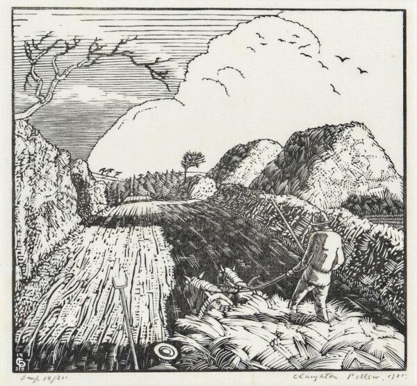 PELLEW Claughton (1890-1966) - 'Norfolk Lane' (AS 18) Wood engraving.