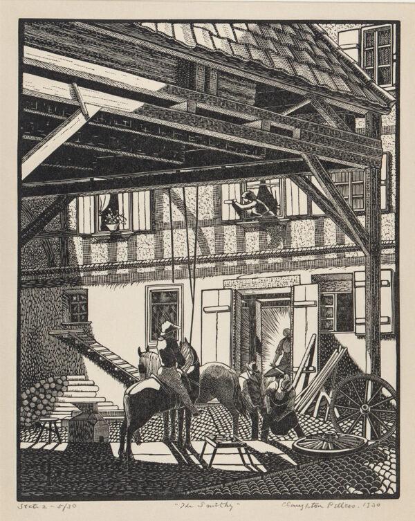 PELLEW Claughton (1890-1966) - 'The Smithy' (AS 50).