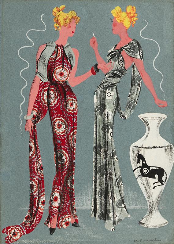 PEMBERTON Muriel R.W.S. F.S.I.A. (1909-1993) - Evening Dresses.