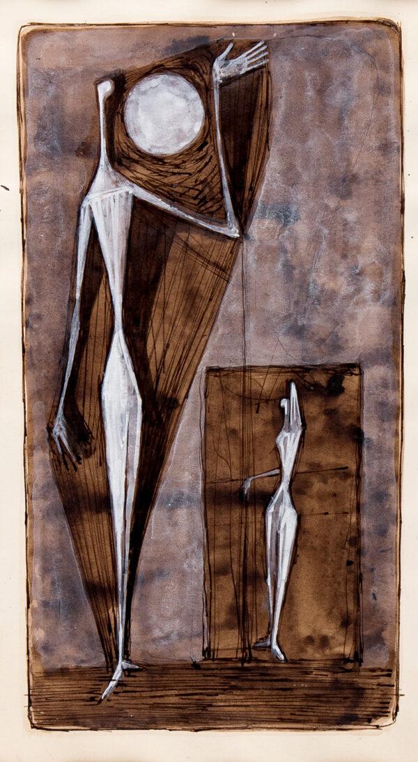 PEMBERTON John (fl.1950s) - Standing Figure and Disc I.