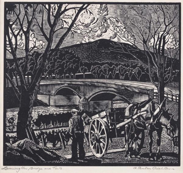 PENDER CRICHTON Alexander (fl.1929-1931) - 'Lamington Bridge and Tinto'.