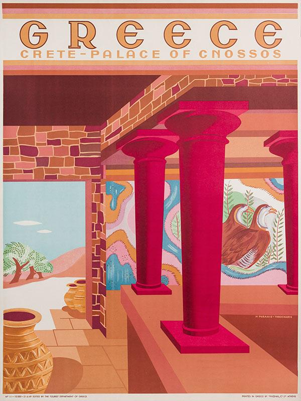 PERAKIS-THEOCHARIS Helen (fl.1940s) (after) - 'Greece, Crete – Palace of Cnossos' (sic).