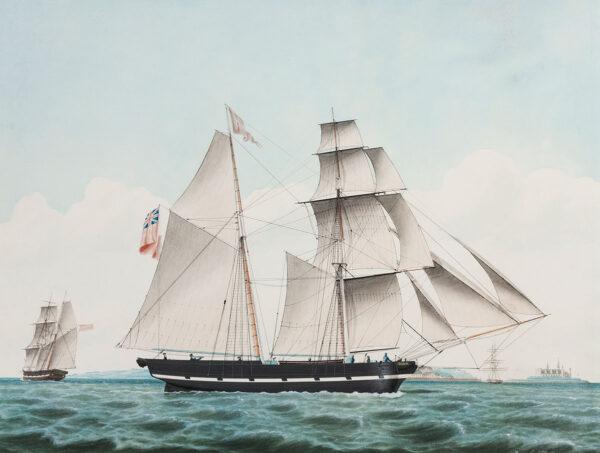 PETERSEN Jakob (Danish 1774-1854) - The schooner 'Bloom' off Elsinore.