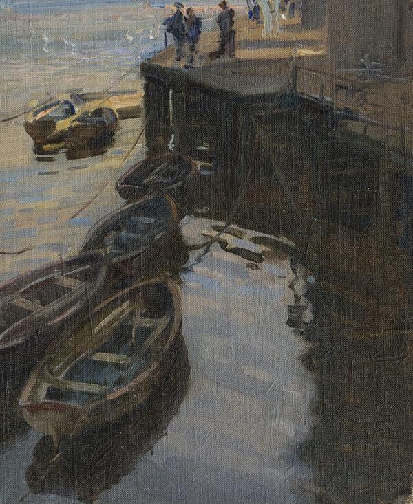 PETTINGER John Frederick (1877-1939) - The Quays side, St Ives.