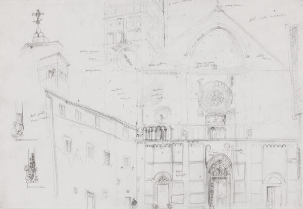 PHILIPSON Sir Robin P.R.S.A. R.A. (1916-1992) - 'Catedrale di San Ruffino, Assisi'.