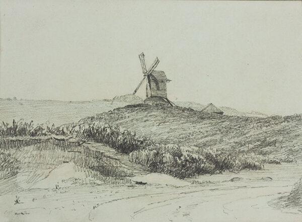 PICKERSGILL Frederick Richard R.A. (1820-1900) - Windmill on a heath.