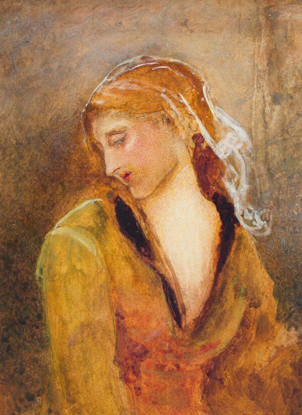 PINWELL George R.W.S. (1842-1875) - Study of a girl.