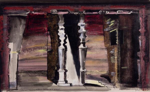 PIPER John C.H. (1903-1992) - 'Gloriana…3rd Act – Sc.
