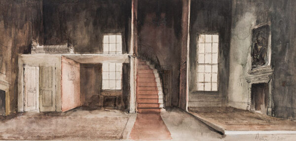 PIPER John CH (1903-1992) - Stage set design, possibly for 'Mourning becomes Electra'.