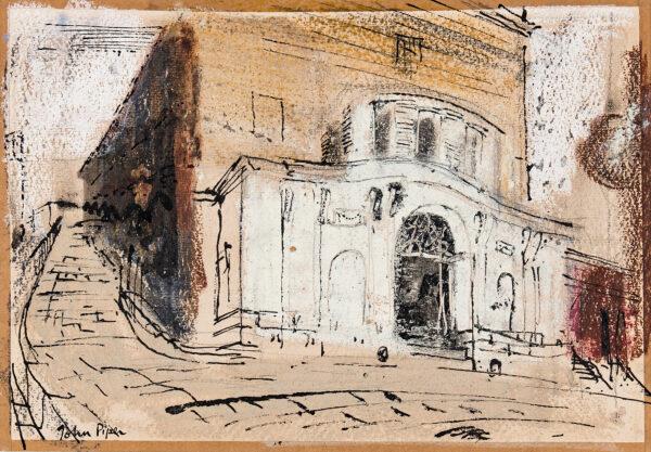PIPER John C.H. (1903-1992) - Street scene: Regency Theatre.