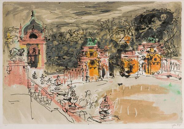 PIPER John CH (1903-1992) - 'Harlaxton Hall' (L.