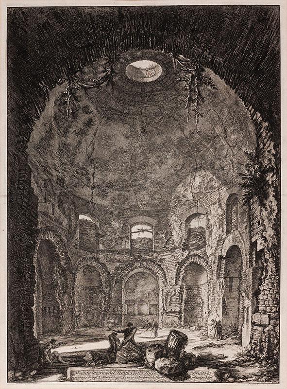 PIRANESI Gionanni Battista (1720-1778) - 'Veduta interna del Tempio della Tosse…'.