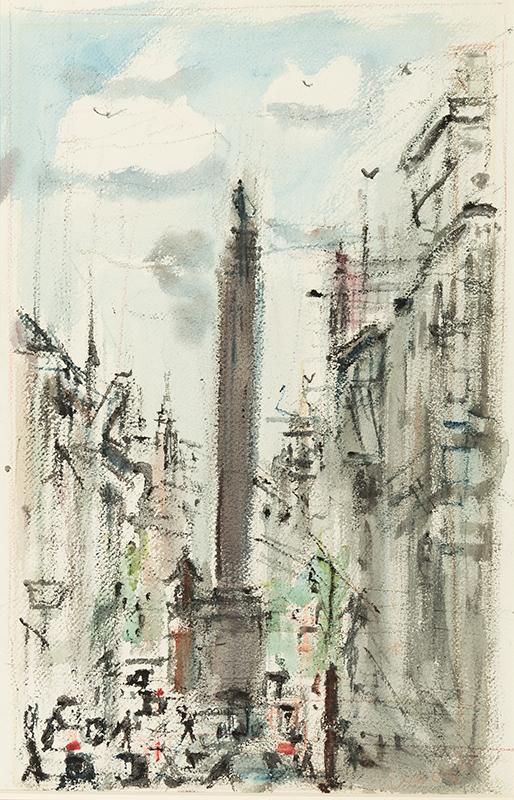 PISIS Filippo de (Luigi Filippo Tibertelli) (1896-1956) - 'The Monument'.