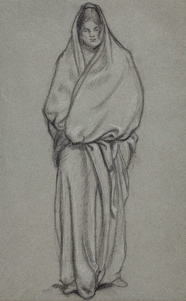 PISSARRO Lucien (1863-1944) - Draped Girl.