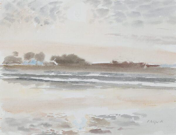 PITCHFORTH Roland Vivian R.A. (1895-1982) - Sunset over an estuary.