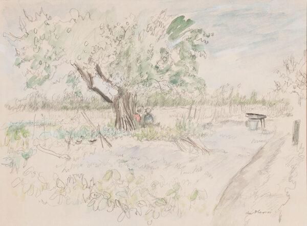 PLESSIS Enslin du (1894-1978) - 'Back garden, Kent'.