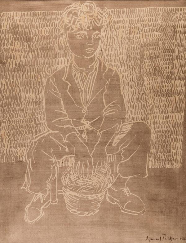 POLLITZER Arthur Sigmund (1913-1983) - Seated boy.
