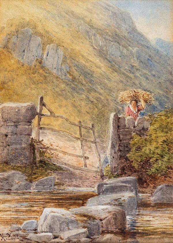 POPE Henry (1843-1908) - 'The stepping-stones Dwygyfylchi'.