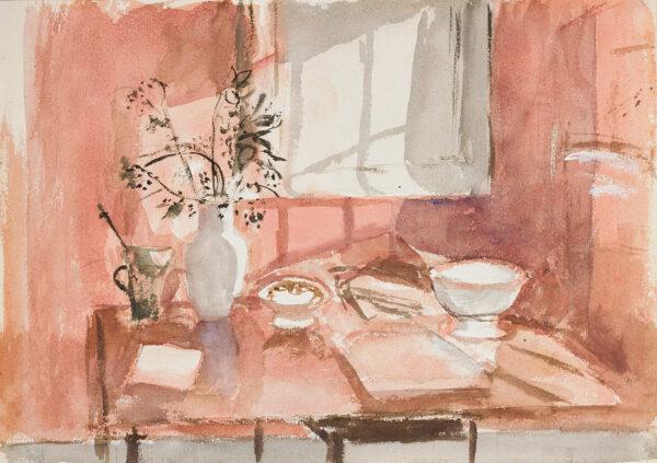POTTER Mary L.G. N.E.A.C. (1900-1981) - 'Terracotta Still Life'.