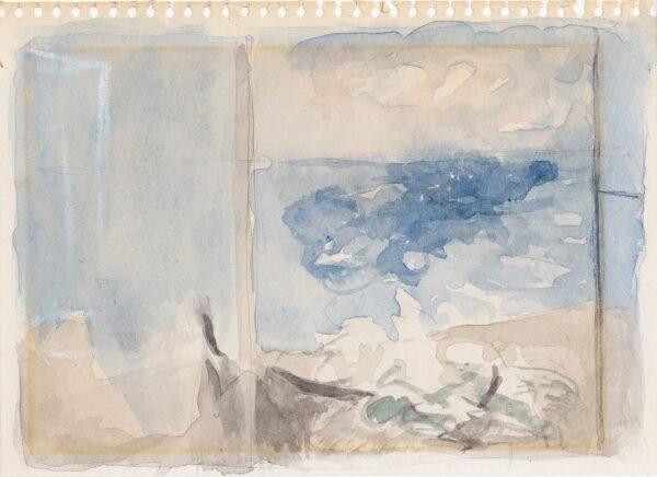 POTTER Mary L.G. (1900-1981) - Sea view, Aldeburgh.