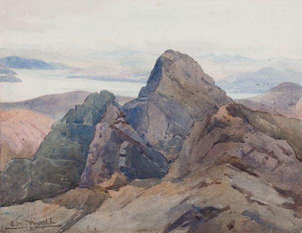 POWELL Eric Walter (1886-1933) - Skye: the Cuillin Ridge.