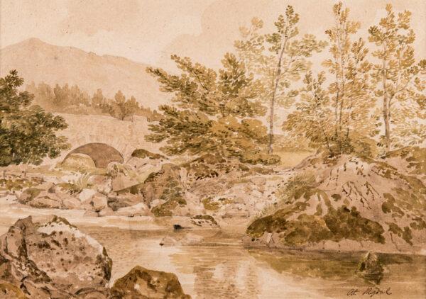 POWELL Joseph P.N.W.S. (1780-1834) - 'At Rydal'.