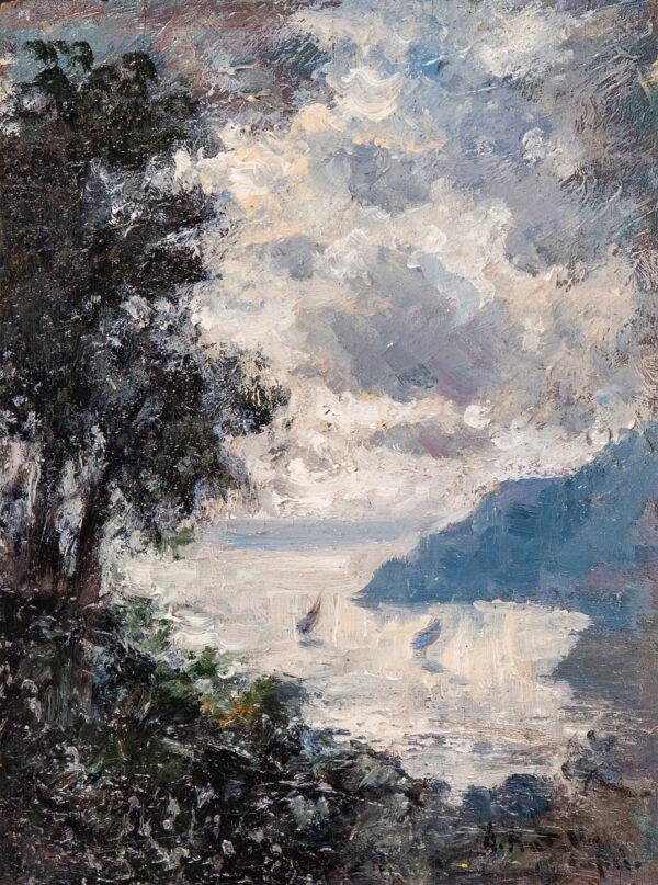 PRATELLA Attilio (1856-1949) - 'Capri'.