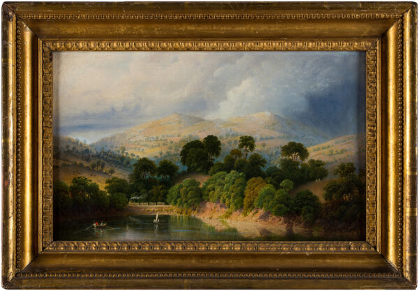 PRICE Edward (1800-1885) Circle of - Train in landscape.