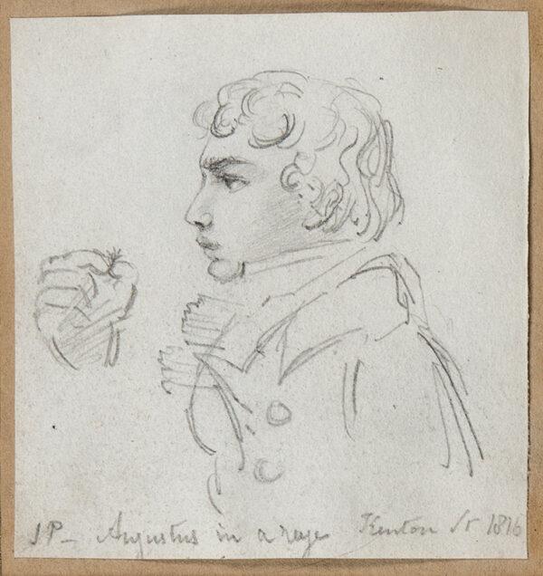 PRINSEP James (1799-1840) - 'Augustus in a rage, Kenton Street'.