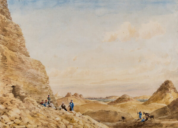 PRINSEP William (1794-1842) - The Pyramids of Saqqara.