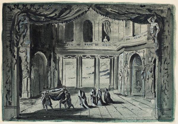 PYM Roland (1910-2006) - Stage set: Capriccio.