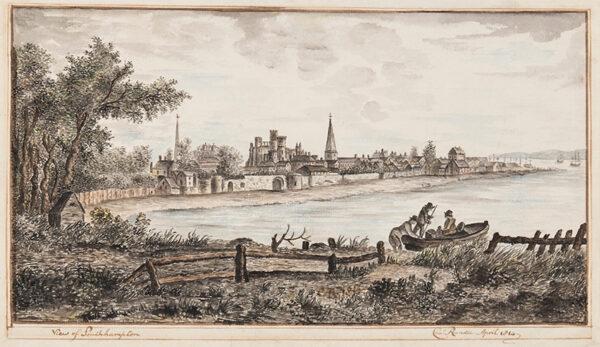 RANDLE Charles (Regency) - 'View of Southampton'.