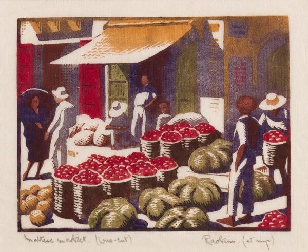 'RAOKIN' (HAWKINS Harold Weaver 1893-1977) - 'Maltese Market'.