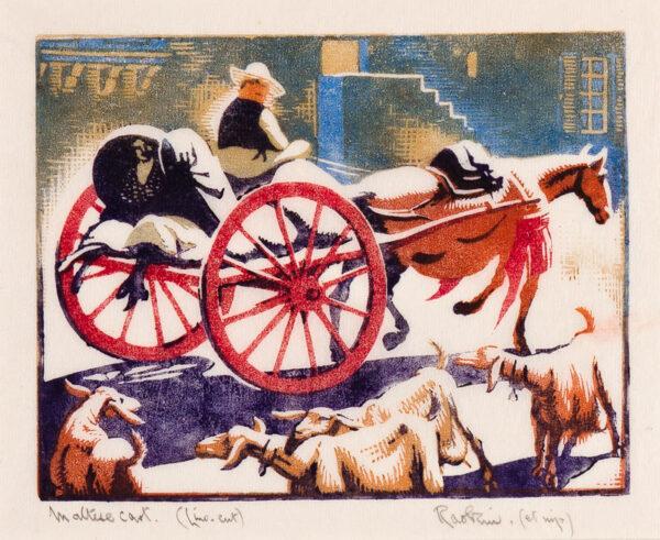 'RAOKIN': HAWKINS Harold Weaver (1893-1977) - 'Maltese Cart'.
