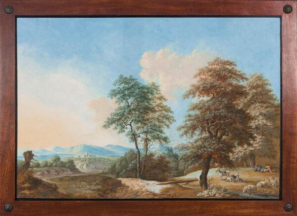 RAUSCHER Johann (1754-1808) - Thuringian(?) landscape.