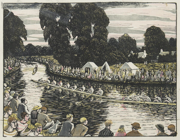 RAVERAT Gwen S.W.E. (1885-1957) - 'Boat Race, Cambridge' (SN.