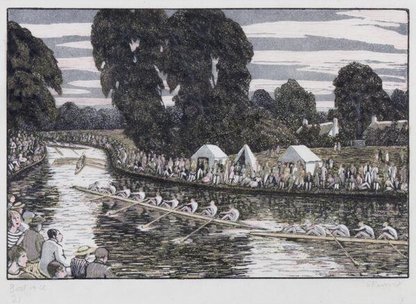 RAVERAT Gwen S.W.E. (1885-1957) - 'Boat Race', Cambridge.